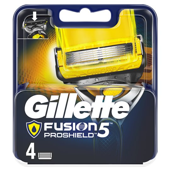 Gillette Fusion5 ProShield Razor Blades For Men, 4 Refills