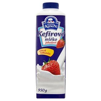 Mlékárna Kunín Kefírové mléko jahodové 950g