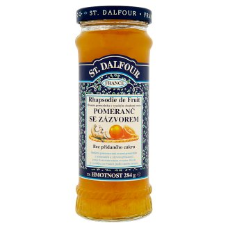 St. Dalfour Orange Ginger Fruit Spreads with High Containing of Fruits 284g