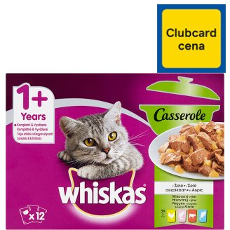Whiskas Casserole mixovaný výběr v želé 12 x 85g