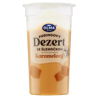 Olma Dessert Pudding with Whipped Cream and Caramel 200g