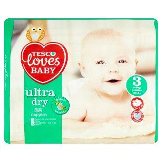 Tesco Loves Baby Ultra Dry Plenky 3 midi 38 ks