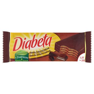 Diabeta Oplatka kakaová máčená 32g