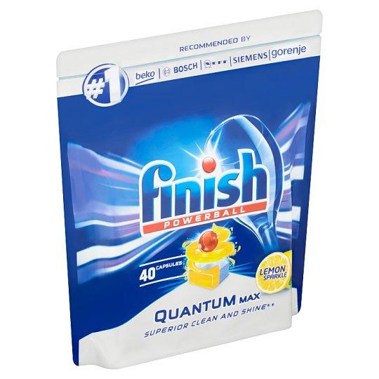 Finish Powerball Quantum Max Lemon Sparkle tablety do myčky nádobí 40 ks 620g