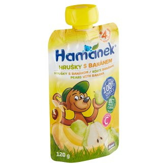 Hamánek Svačinka s hruškami a banány 120g