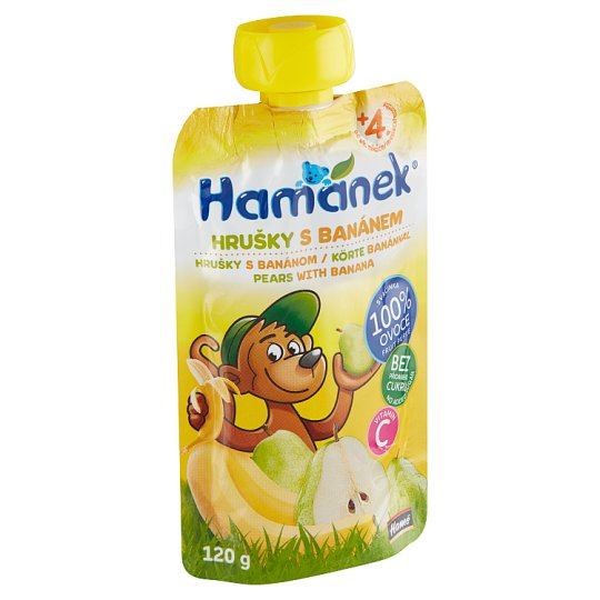 Hamánek Snack with Pears and Bananas 120g