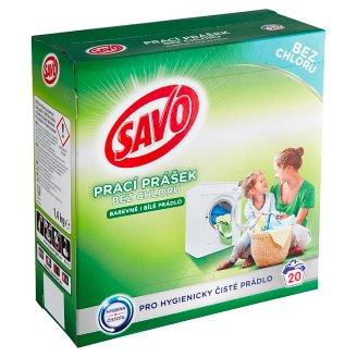Savo Bez chloru Universal prací prášek na barevné abílé prádlo 20 praní