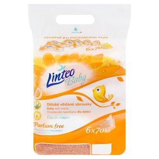 Linteo Baby Wet Wipes 6 x 70 pcs