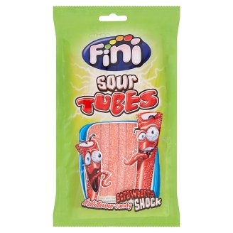 Fini Sour Strawberry Tubes 90g