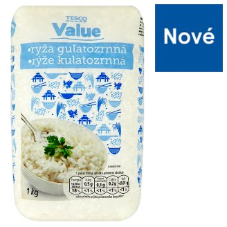 Tesco Value Rýže kulatozrnná 1kg