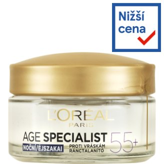 image 1 of L'Oréal Paris Age Specialist 55+ Restorative Anti-Wrinkle Night Cream 50ml