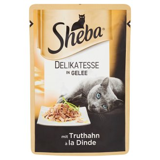 Sheba Delicacies Gelee in Turkey in Jelly Complete Food for Adult Cats 85g