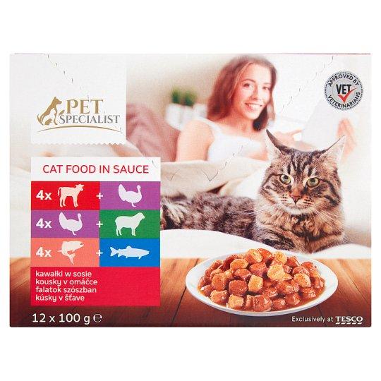 Tesco Pet Specialist Kousky v omáčce 12 x 100g