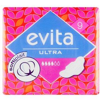 Evita Ultra softiplait Hygienické vložky - s křidélky á 9 ks