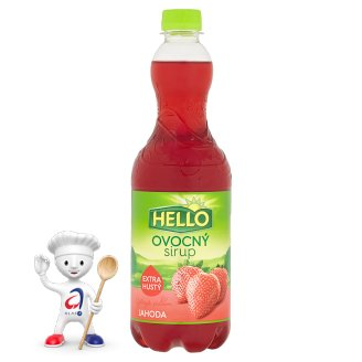 Hello Ovocný sirup jahoda 0,7l