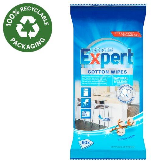 Go for Expert Cotton Fresh bavlněné univerzální vlhčené čisticí ubrousky 60 ks