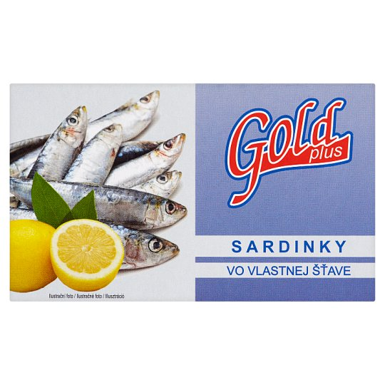 Gold Plus Sardines in Your Own Juice 125g