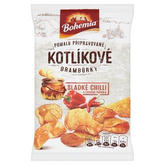 Bohemia Kotlíkové brambůrky sladké chilli a červená paprika 50g