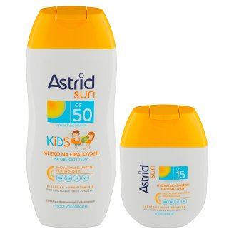 Astrid Sun Dětské mléko na opalování OF 50 200ml + hydratační mléko na opalování OF 15 80ml