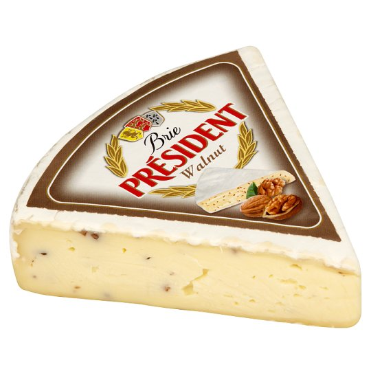 Président Brie Cheese with Nuts by Weight (Sliced)