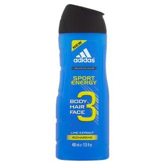 Adidas Sport Energy sprchový gel na tělo, tvář & vlasy 400ml