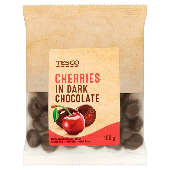 Tesco Cherries in Dark Chocolate 100g
