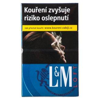 L&M Loft True Blue Slims cigarety s filtrem 20 ks