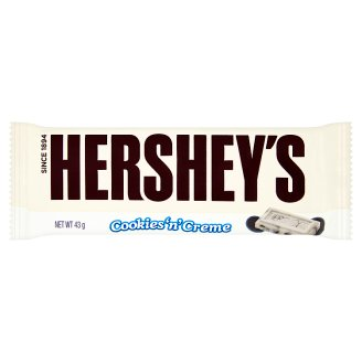 Hershey's Cookies 'n' Crème Bar with White Frosting and Puffs 43g