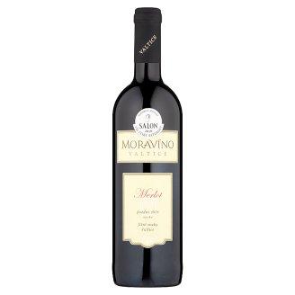 Moravíno Valtice Merlot jakostní víno s přívlastkem pozdní sběr červené suché 0,75l