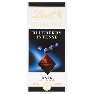 Lindt Excellence Fine Dark Chocolate with Blueberries and Almond Slivers 100g