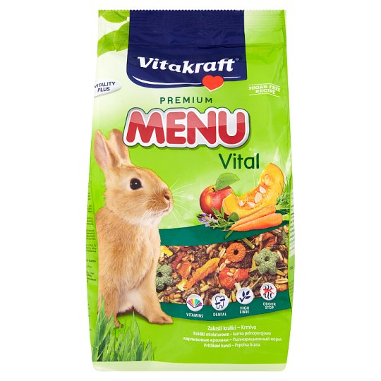 Vitakraft Premium menu vital krmivo pro zakrslé králíky 1kg