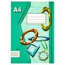 Papírny Brno 445e školní sešit A4 čtverečkovaný 40 listů