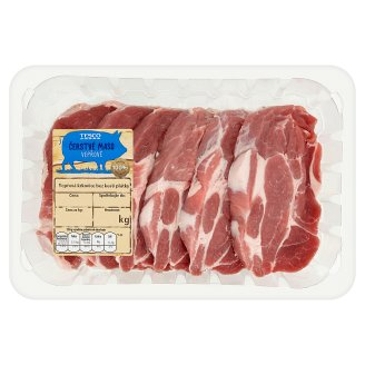 Tesco Čerstvé maso vepřová krkovice bez kosti plátky 0,8kg