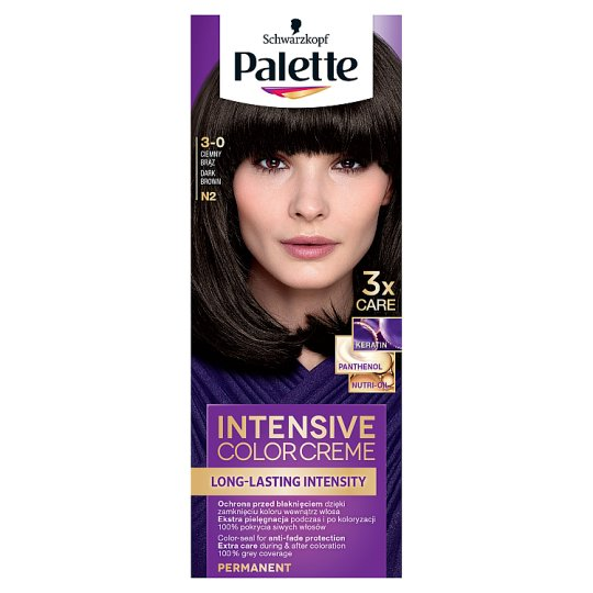 image 1 of Schwarzkopf Palette Intensive Color Creme Hair Color Dark Brown N2