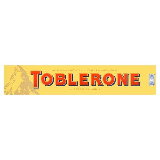 Toblerone Švýcarská mléčná čokoláda s medovo-mandlovým nugátem 360g
