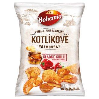 Bohemia Kotlíkové brambůrky sladké chilli a červená paprika 120g