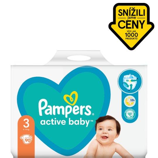 Pampers Active Baby Velikost 3, 90 Plenek, 6-10kg