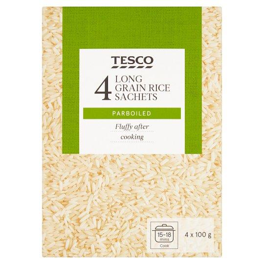 Tesco Rýže dlouhozrnná parboiled 4 x 100g