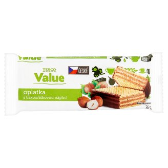 Tesco Value Wafer with Hazelnut Filling 36g