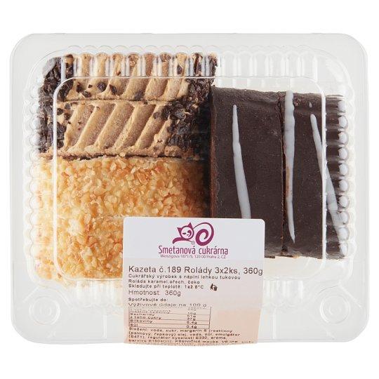 Smetanová cukrárna Cassette No. 189 Rolls 3 x 2 pcs 360g