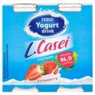 Tesco Jogurtový nápoj s jahodovou příchutí a s L. paracasei 4 x 100g