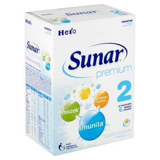Sunar Premium 2 pokračovací sušená mléčná kojenecká výživa 2 x 300g