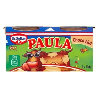 Dr. Oetker Paula Mléčný dezert s příchutí čokoládovou a oříškovou 2 x 100g