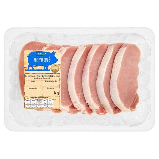 Tesco Vepřová pečeně bez kosti plátky rodinné balení 0,720kg