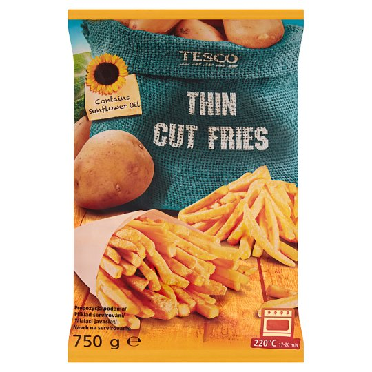 Tesco Pre-Fried Deep-Frozen Tin Cut Fries 750g
