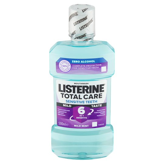 Listerine Total Care Sensitive Clean Mint ústní voda 500ml