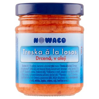 Nowaco Crushed Cod a la Salmon in Oil 125g