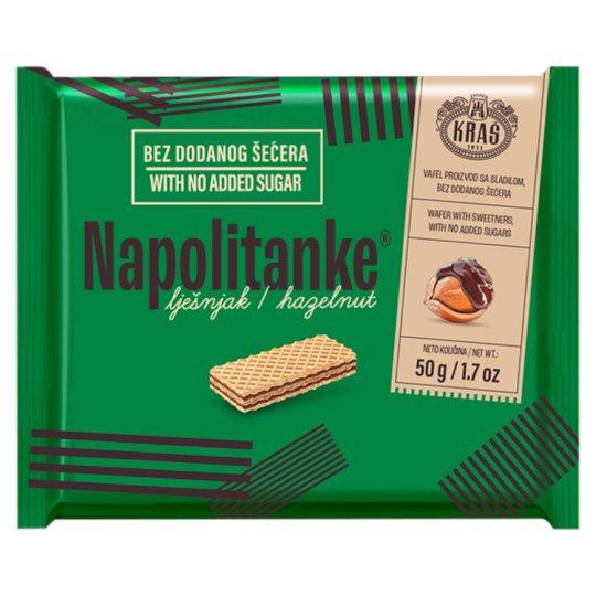 Kraš Napolitanke Oplatky s lískooříškovou náplní 50g