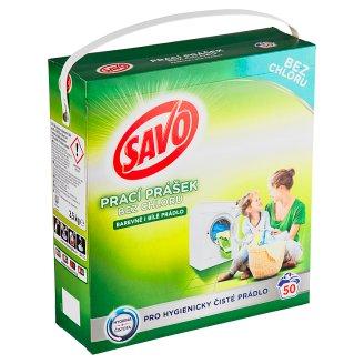 Savo Bez chlóru Universal prací prášek na barevné a bílé prádlo 50 praní