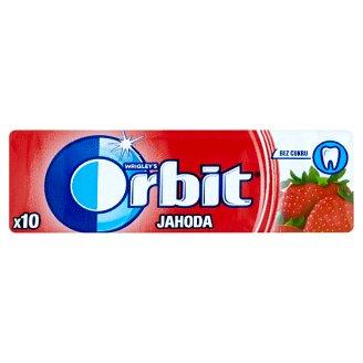 Wrigley's Orbit Jahoda žvýkačka bez cukru s příchutí jahody 10 ks dražé 14g